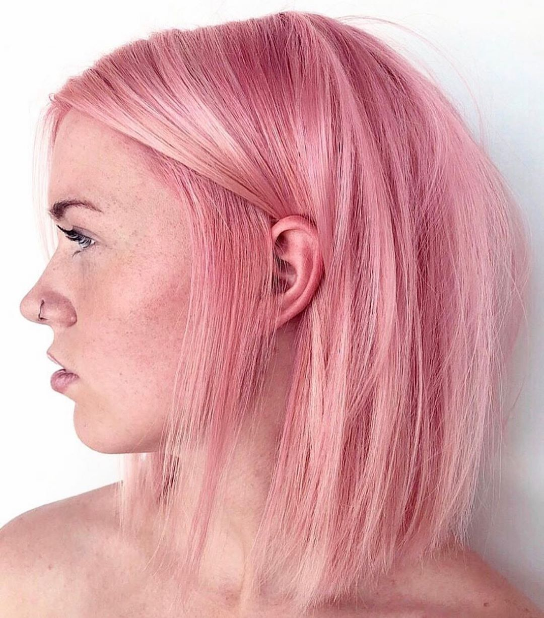 Light Pink Cotton Candy Hair Color