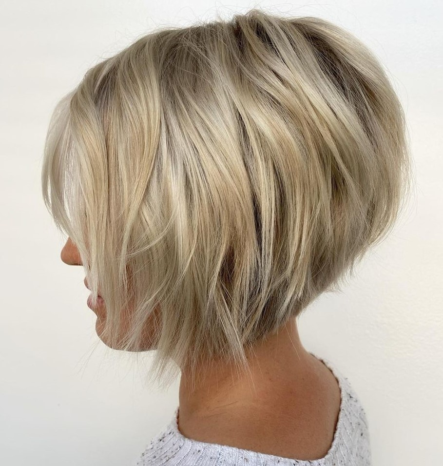 Warm Blonde and Platinum Short Hair
