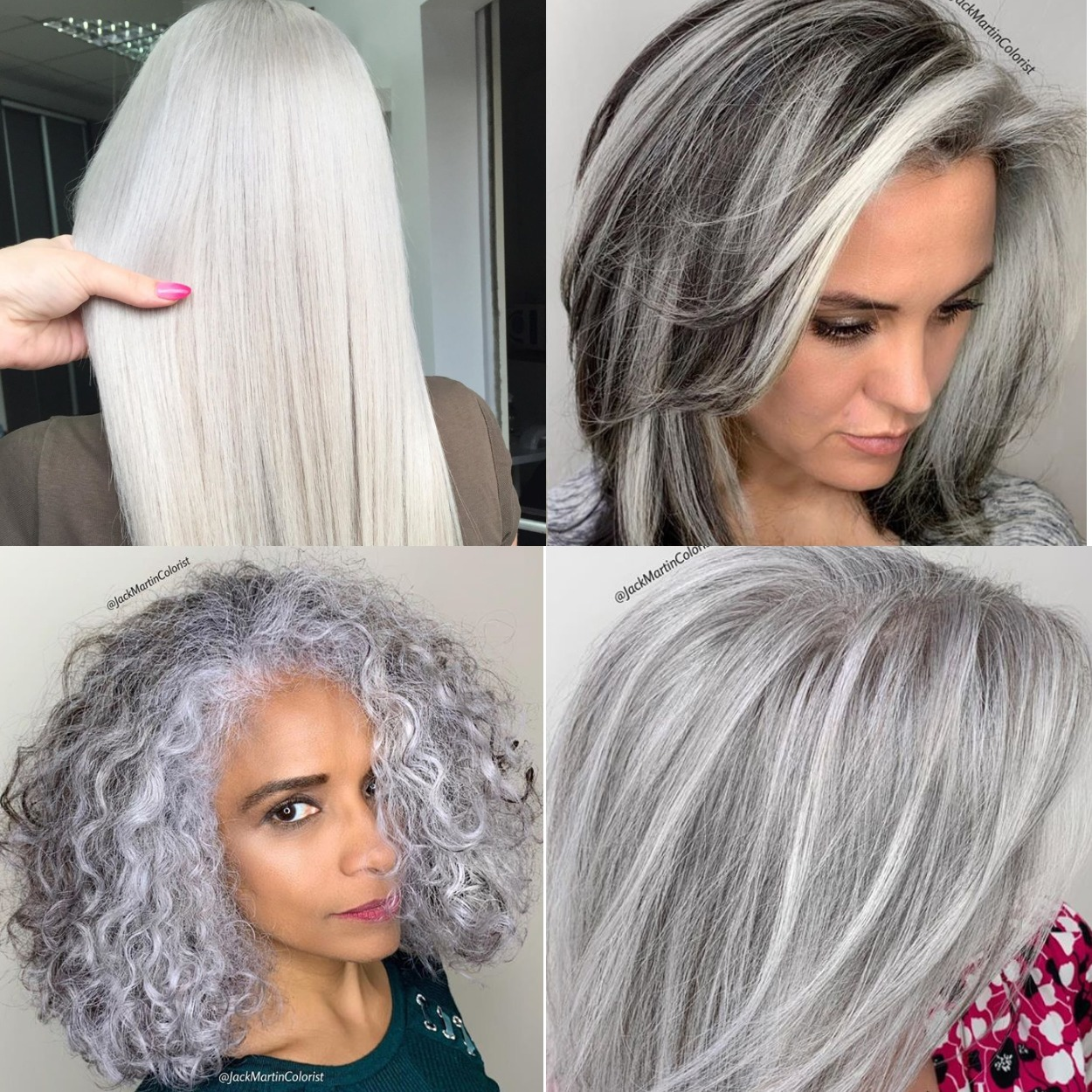 Gray Hair Color Chart