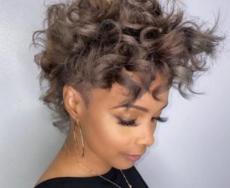 Feminine Curly Pixie