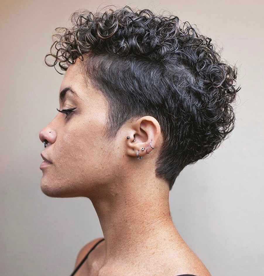 Short Undercut Hairstyle for Curly Hair