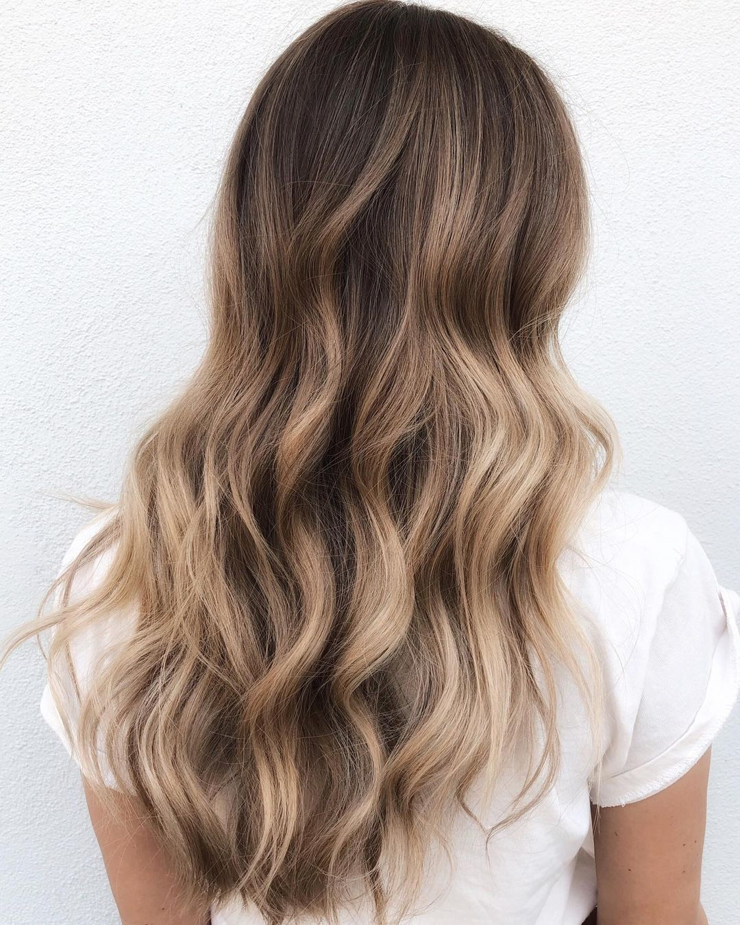 Long Hair with Melted Bronde Balayage