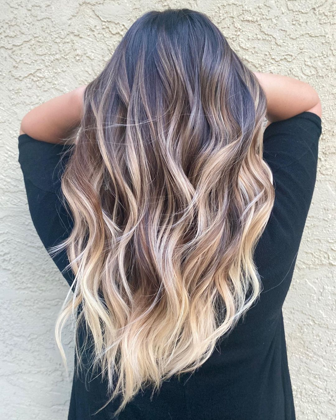 Blonde Balayage with Colorful Roots