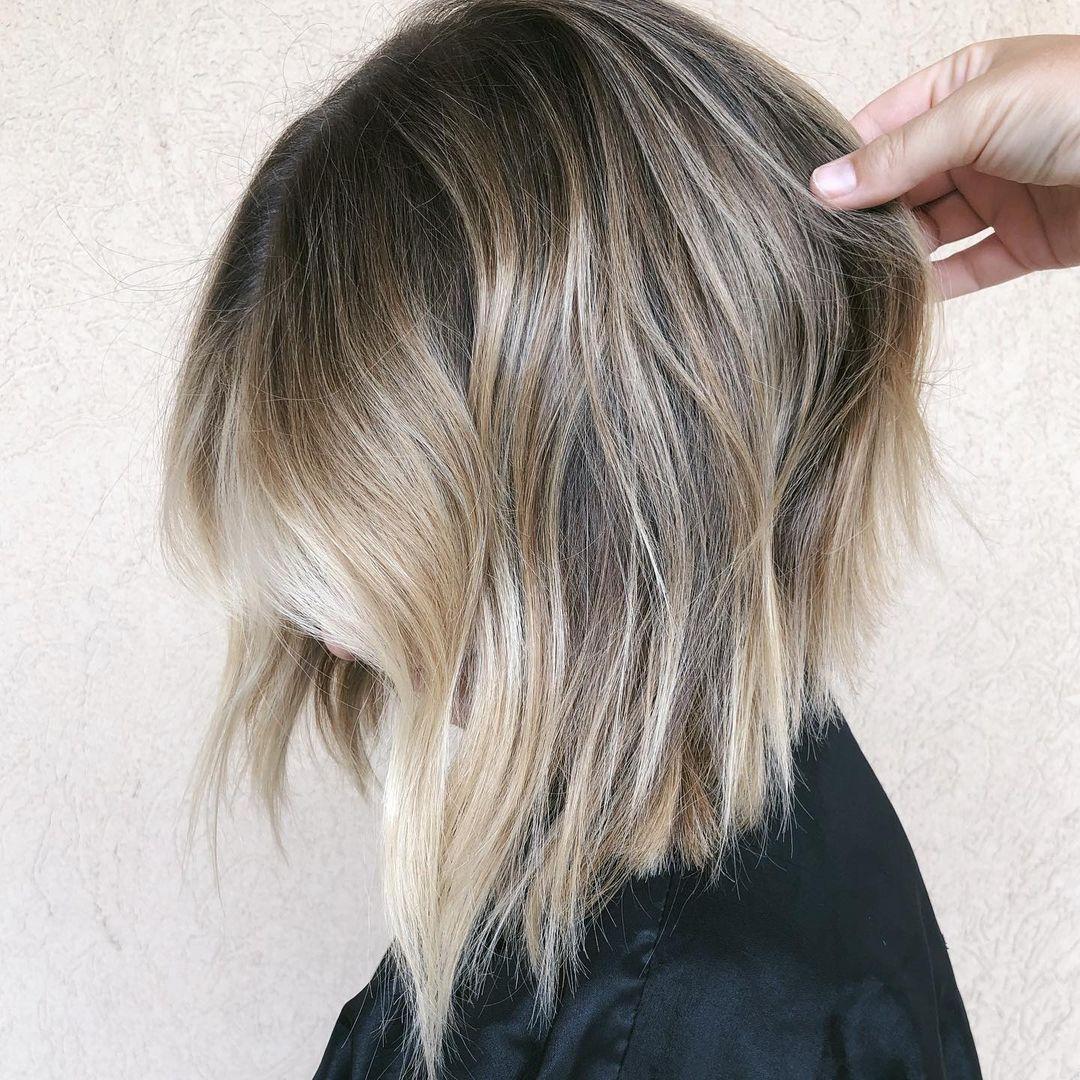 Dishwater Blonde Hair with Blonde Balayage