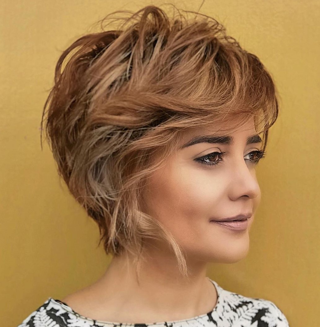 Feathered Pixie with Side Bangs
