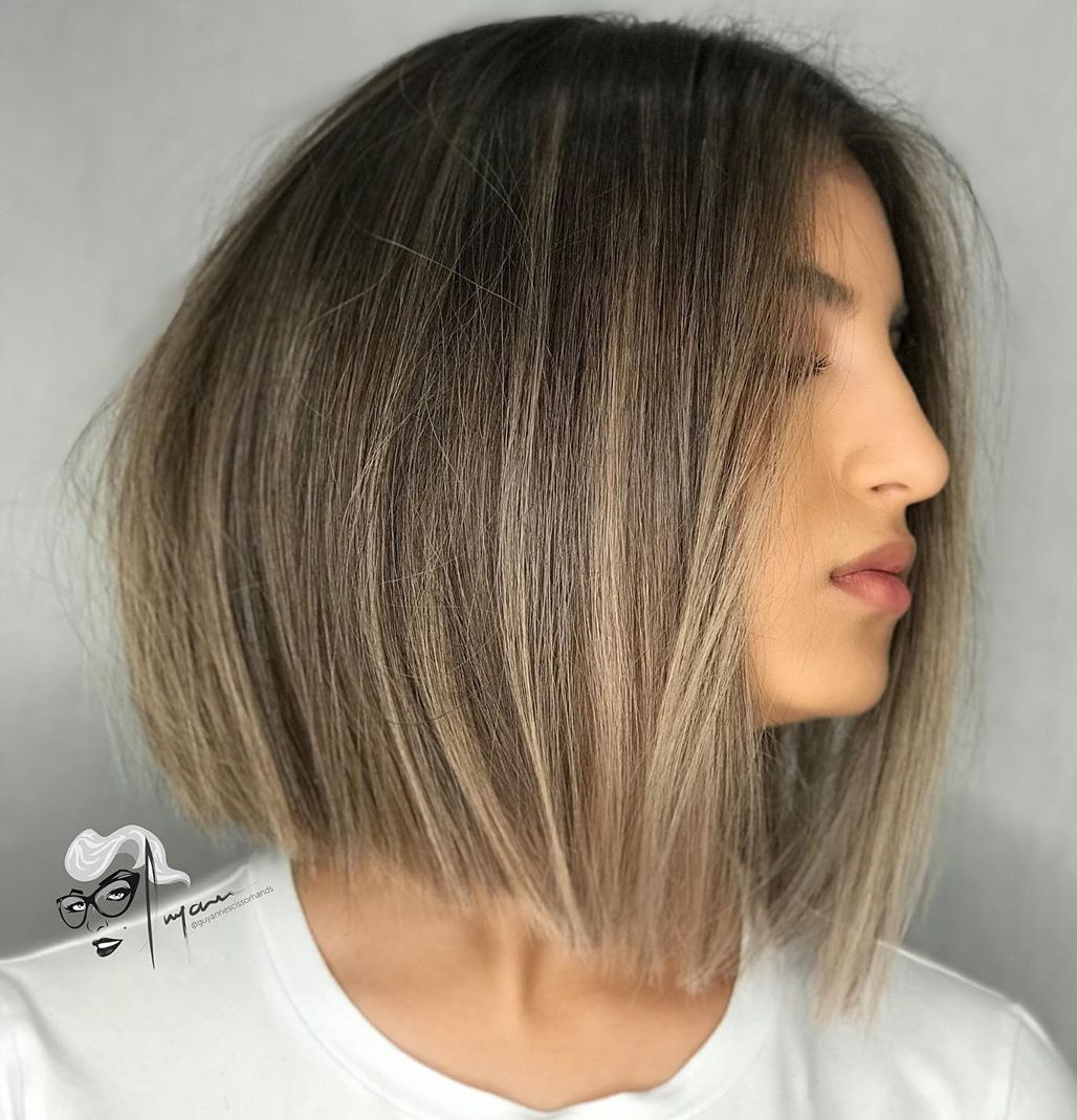Dirty Blonde Balayage Bob