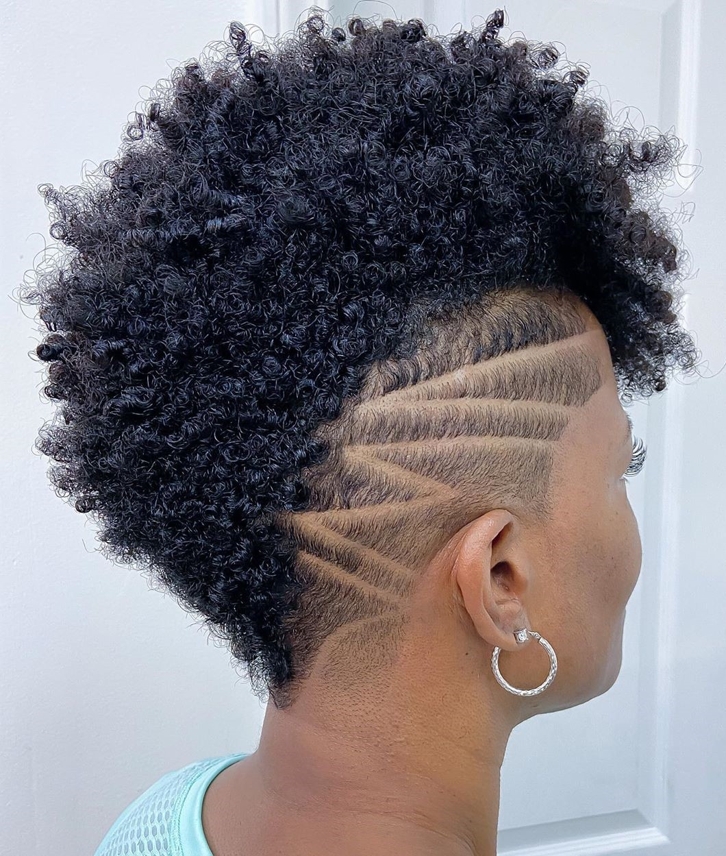 Black Undercut Style for Natural Hair