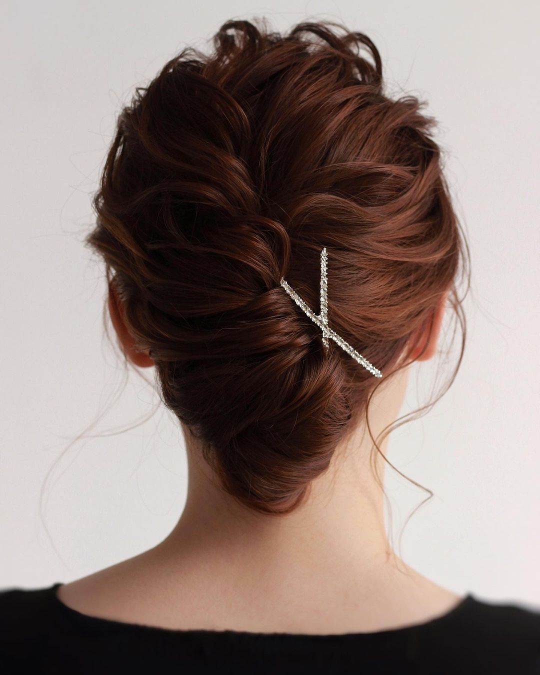 Classic French Twist for Wavy Hair