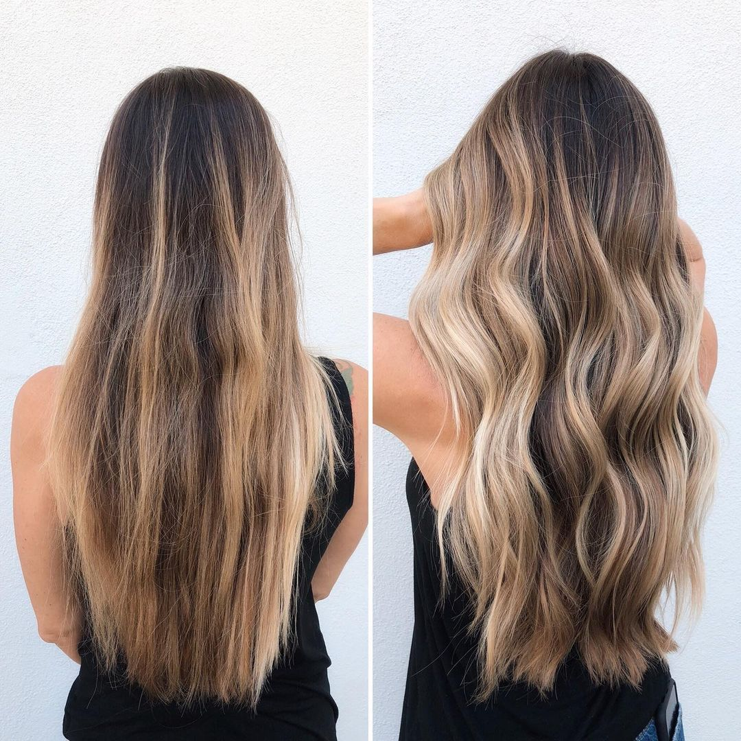Blonde Balayage with Babylights