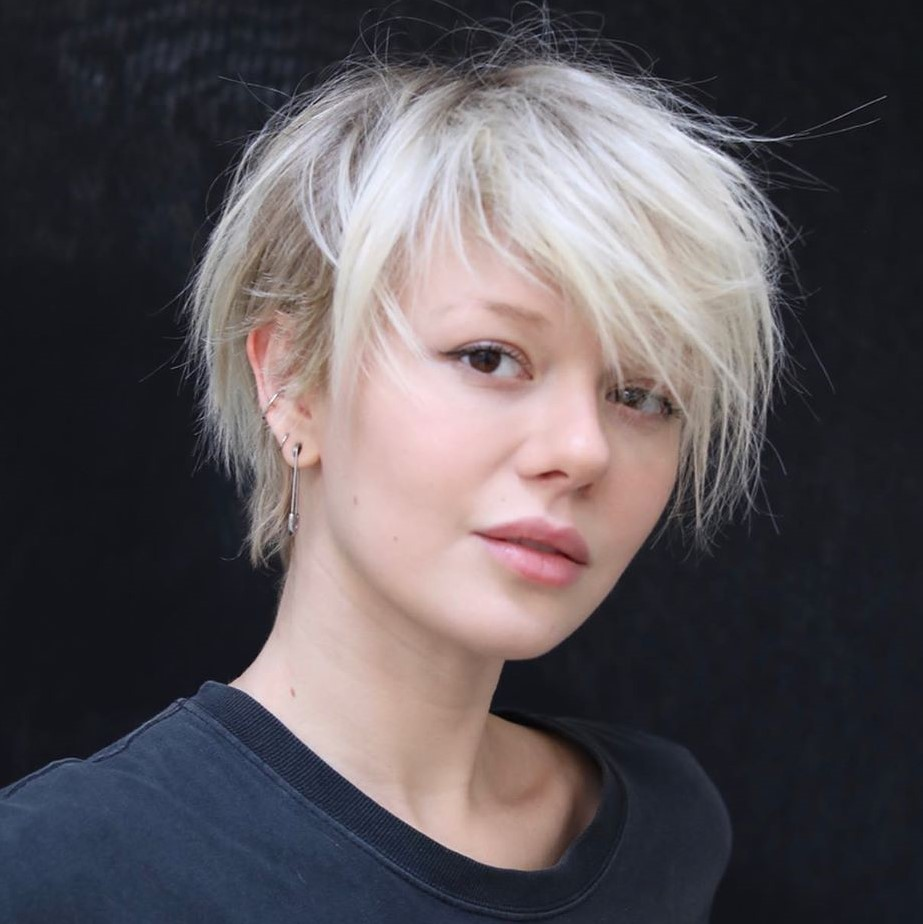 Short Hair with Side-Swept Bangs