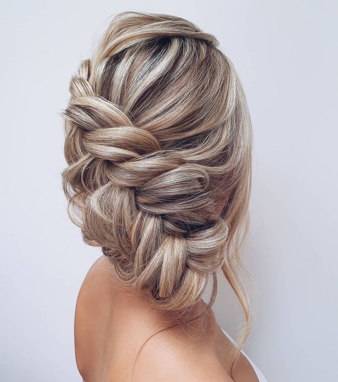 Loosely Braided Updo for Bridesmaids