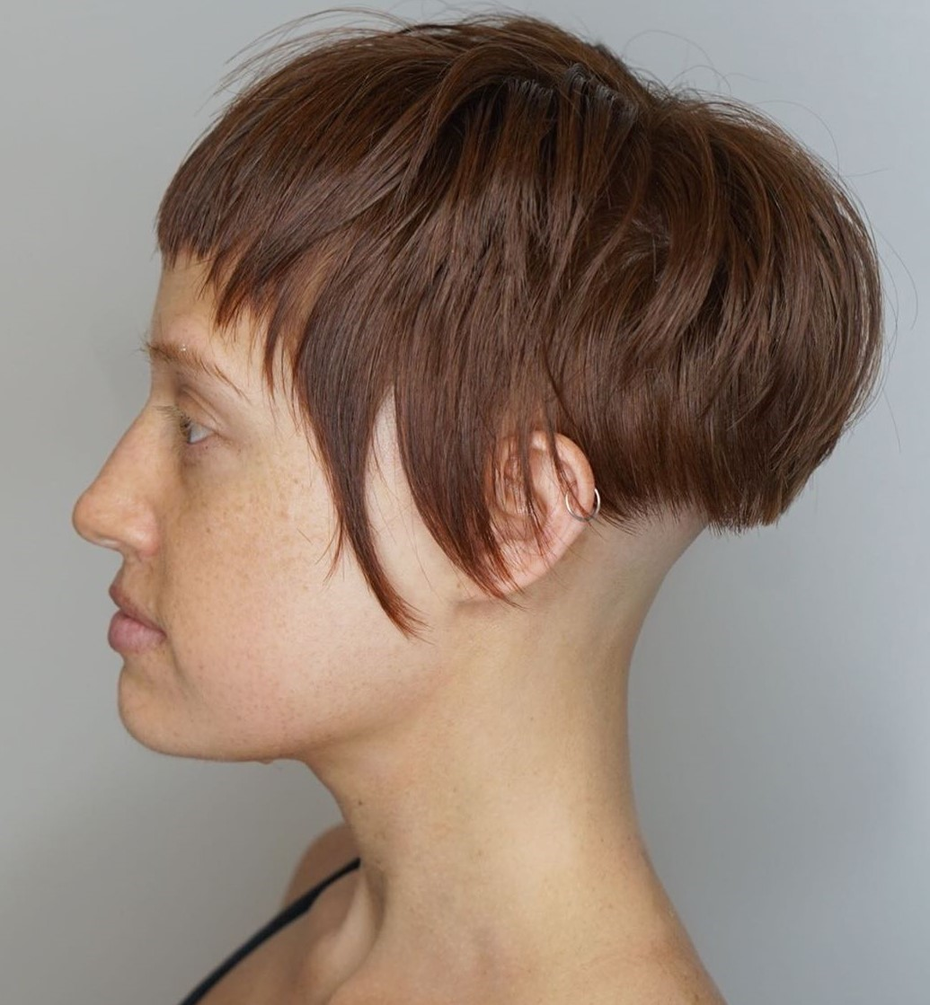 Short Hair with Shaved Nape Undercut