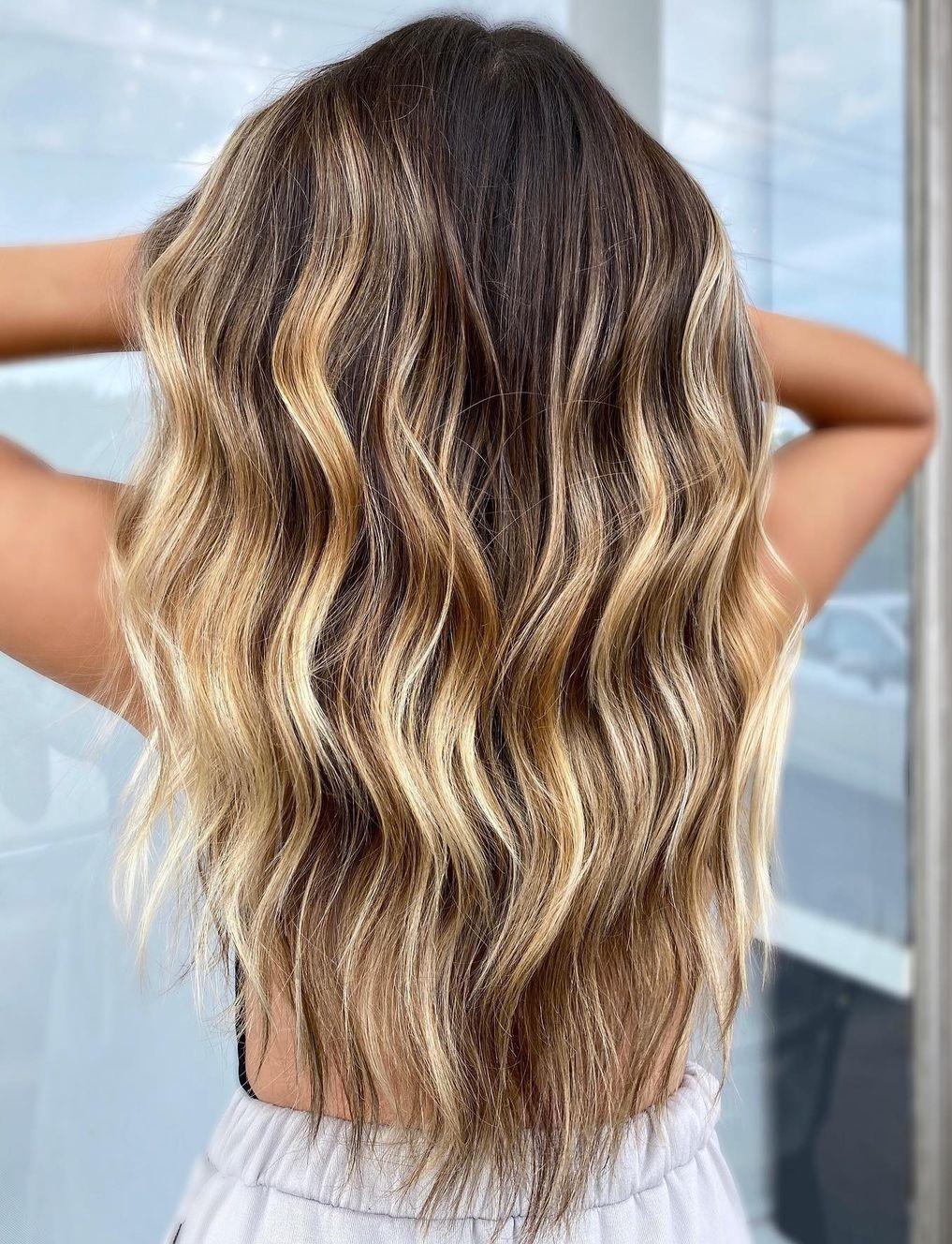 Warm Blonde Balayage Colors