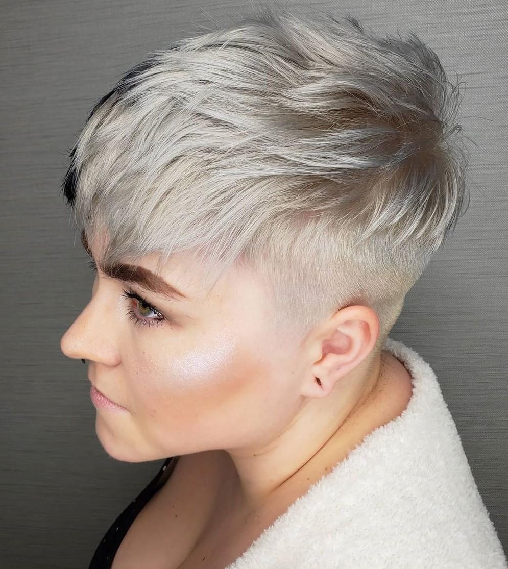 Platinum Blonde Undercut Pixie