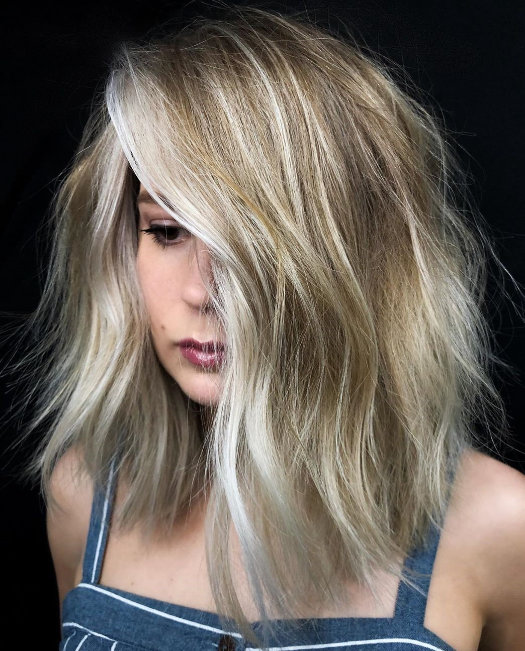 Dark Blonde with Platinum Highlights