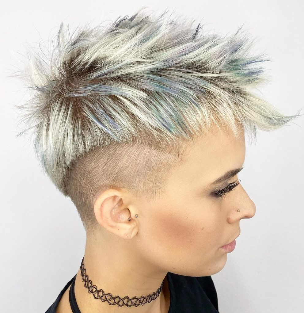 Choppy Undercut Hairstyle for Short Hair