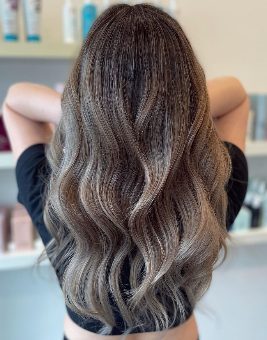 Light Brown Hair with Subtle Ash Balayage
