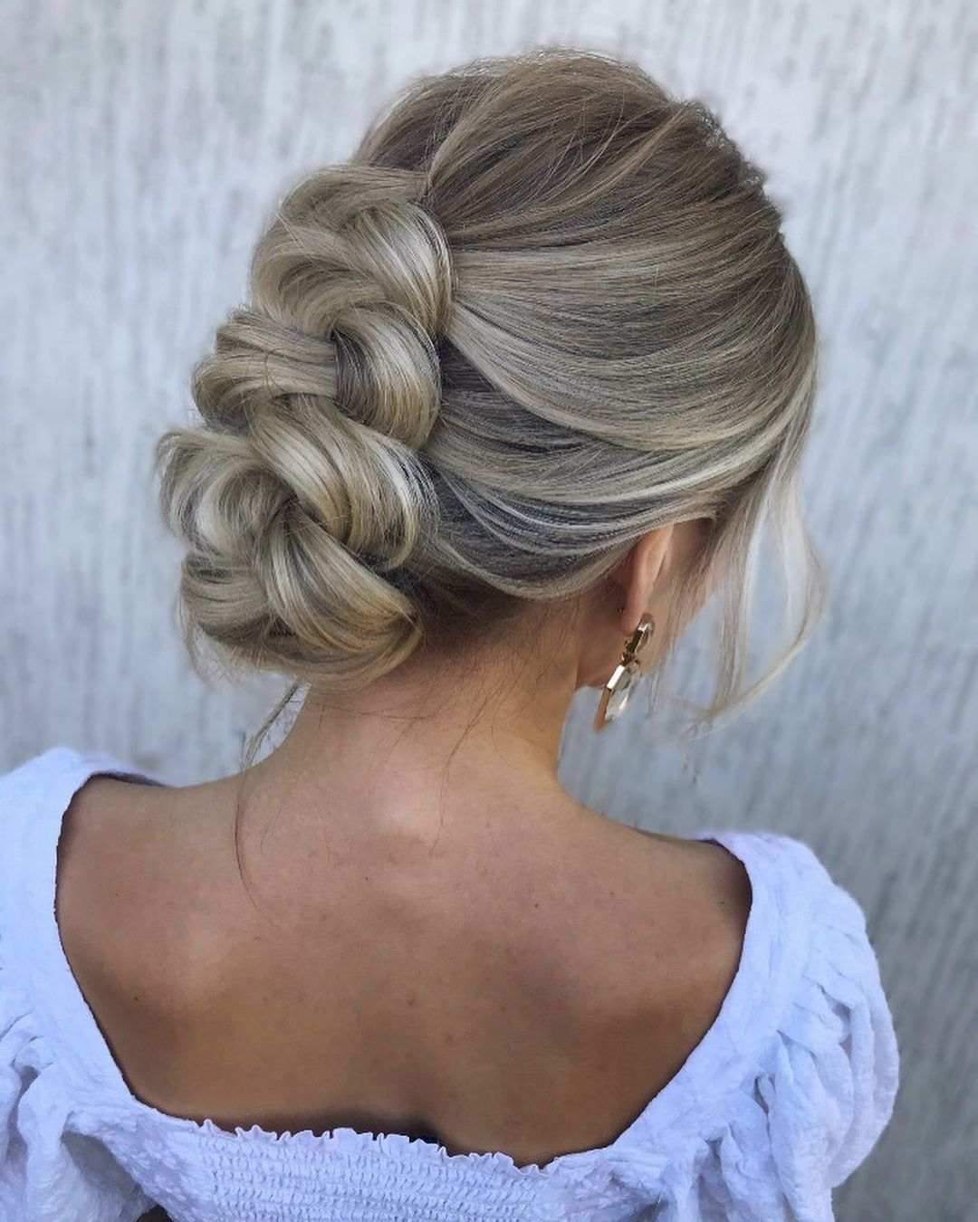 Blonde Braided Updo for Girls with Long Hair