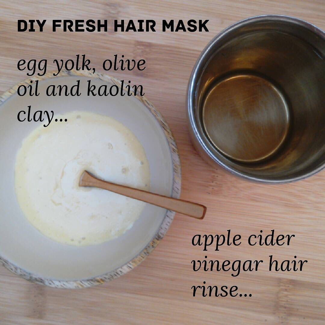 Hair Masks with Apple Cider Vinegar