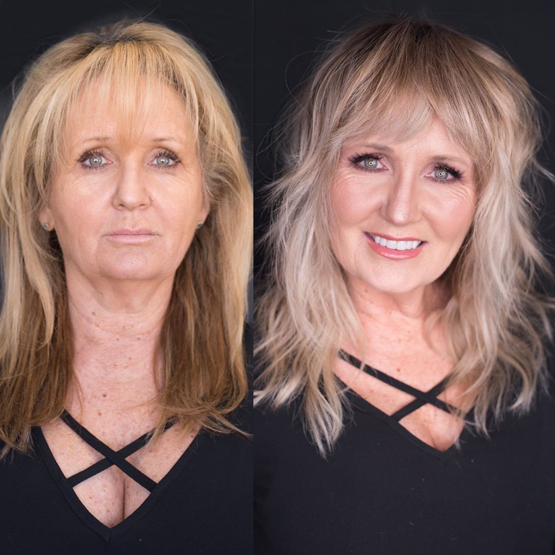 Long Hairstyle for Mature Ladies with Thin Hair
