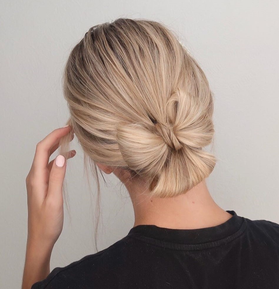 Trendy Bow Updo from Low Ponytail