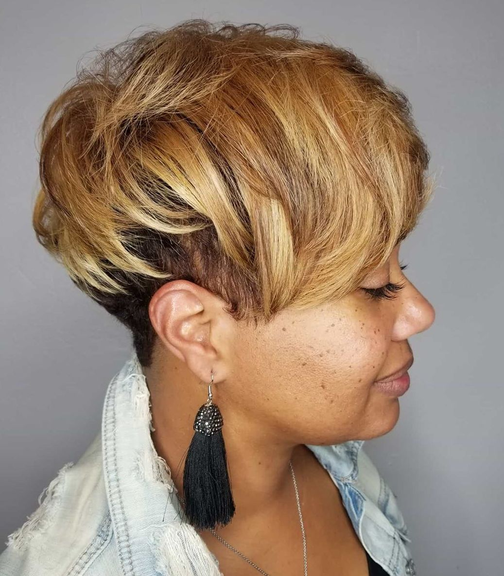 Light Caramel Short Hair