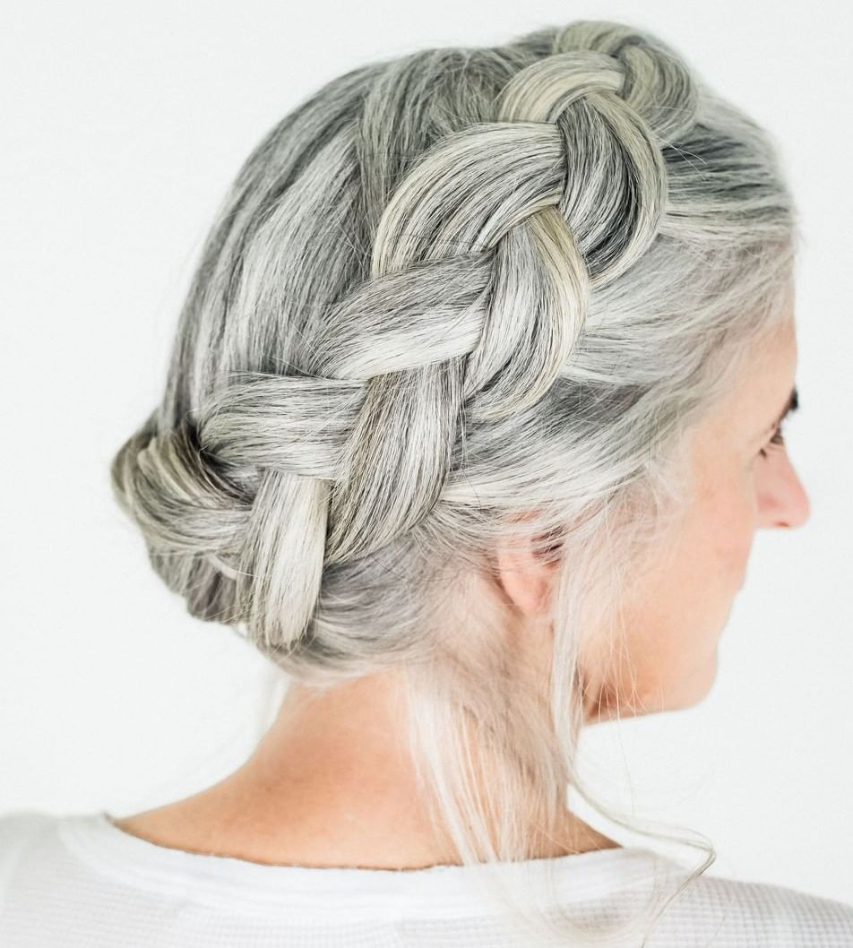 Long Gray Hair for Mature Women