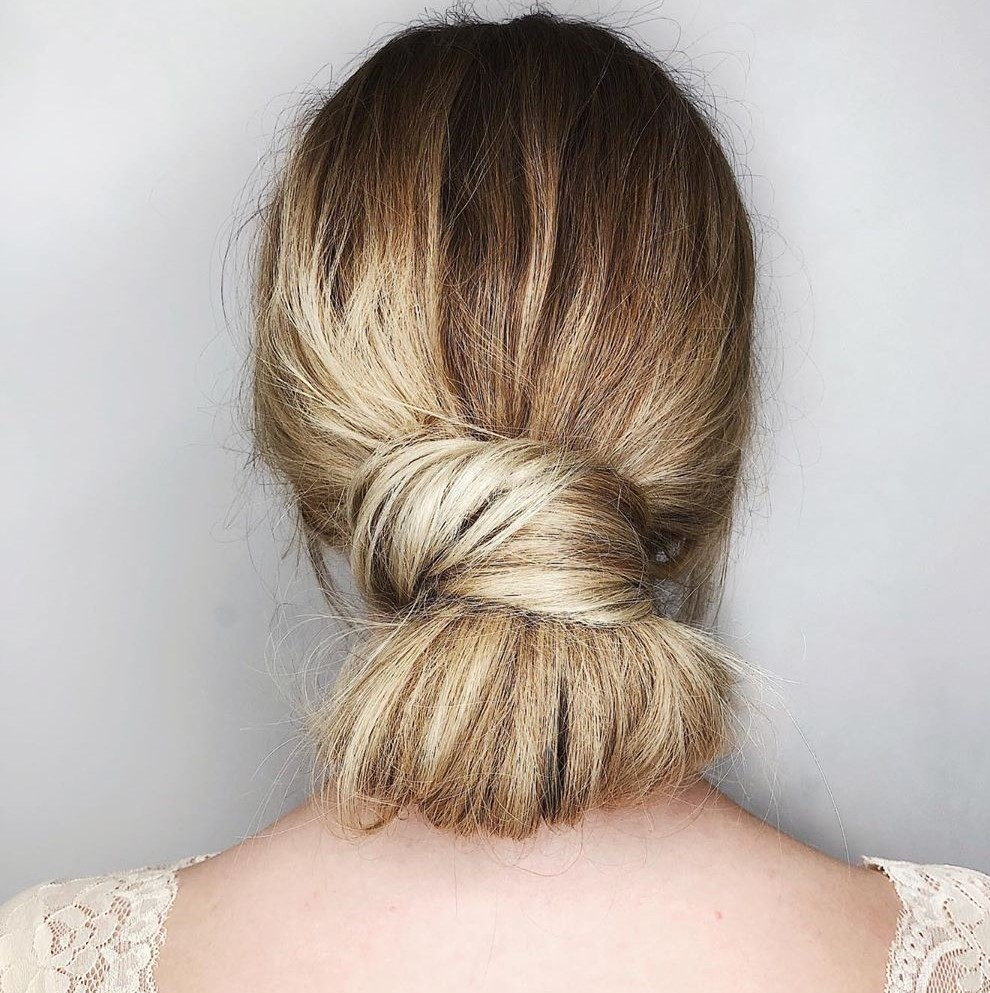 Fast Messy Low Ponytail Bun