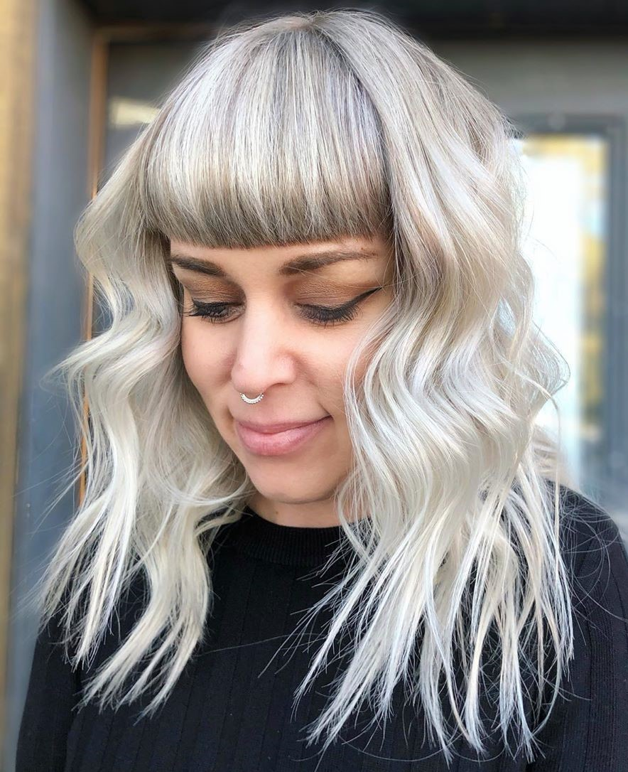 Short Blunt Bangs for Medium Hair