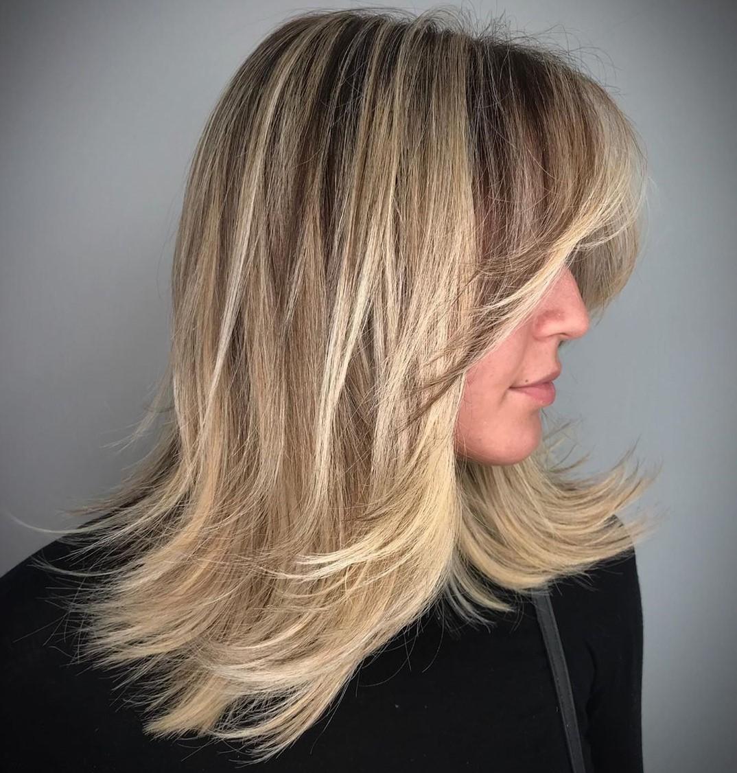 Medium Haircut with Bangs for Straight Hair