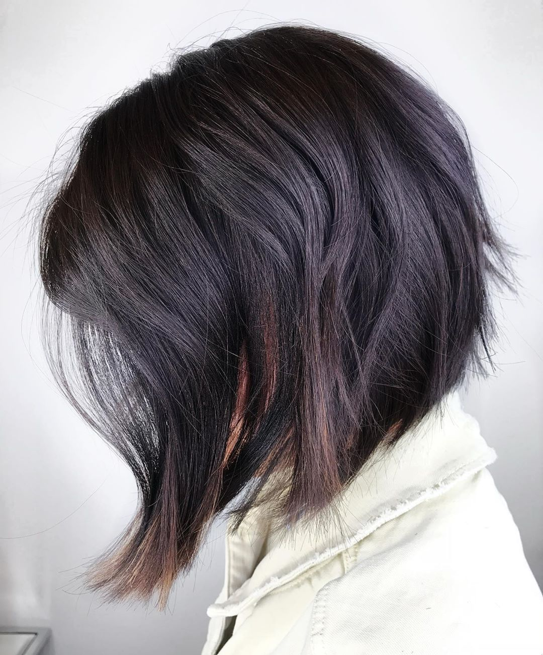 Dark Fall Hair Color with Subtle Balayage
