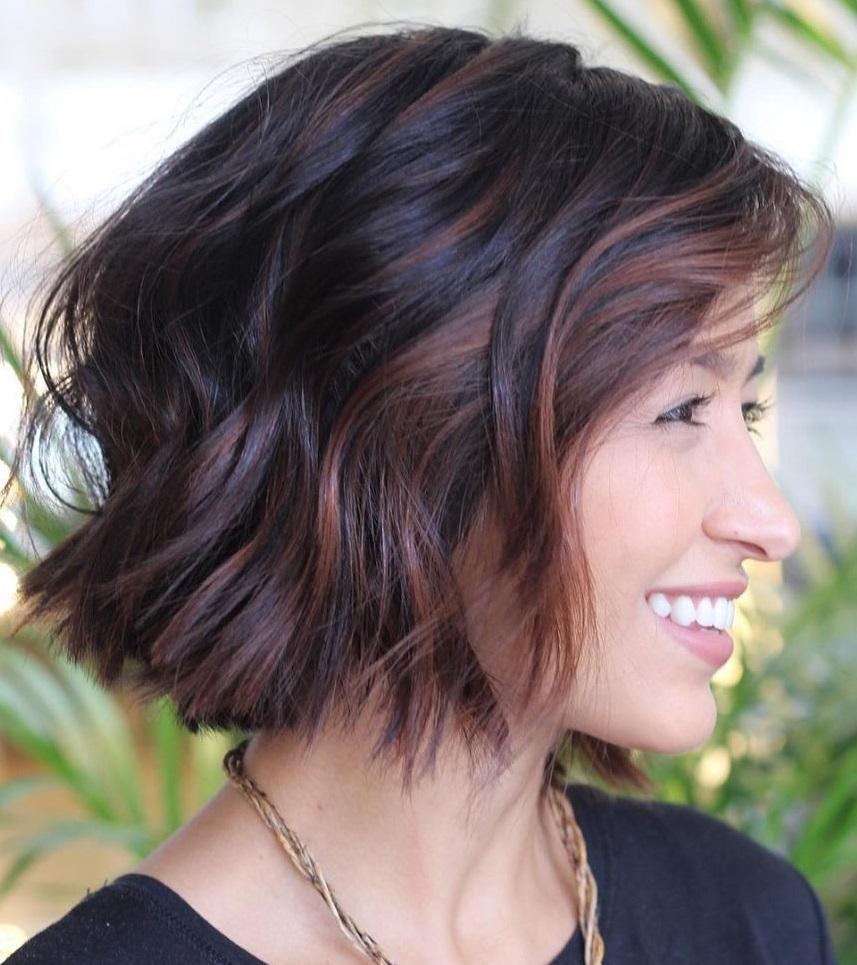 Balayage Highlights for Dark Short Hair