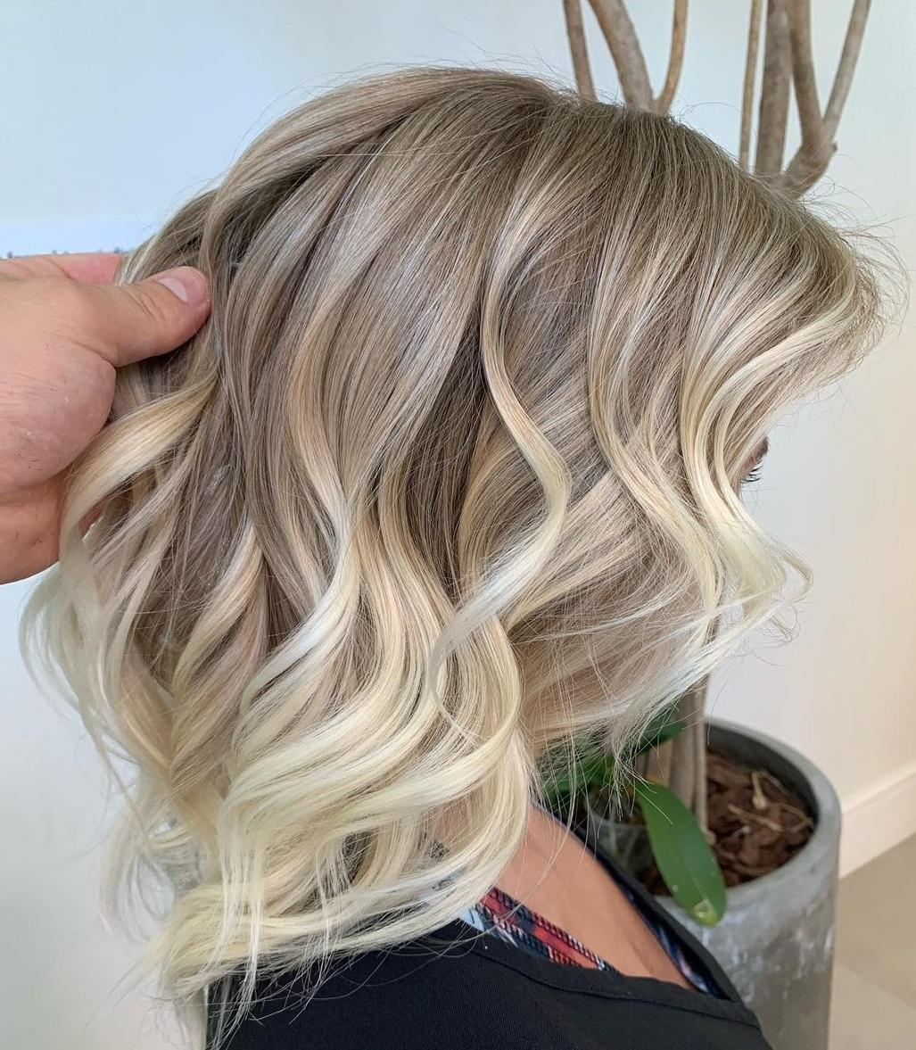 Classy Ash Blonde Balayage Hair