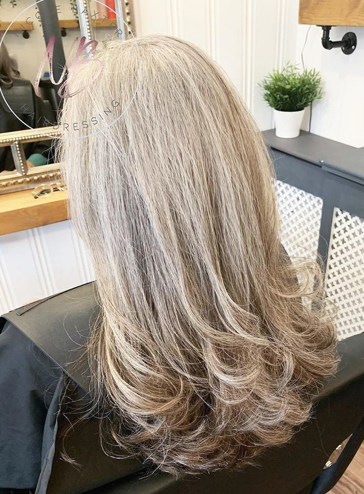 Long Layered Haircut for Older Women