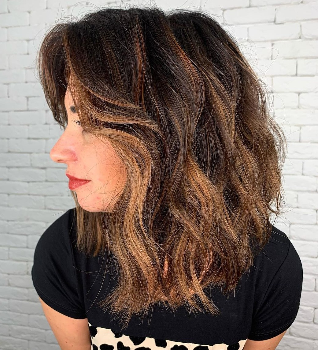 Medium Dark Thick Hair with Highlights
