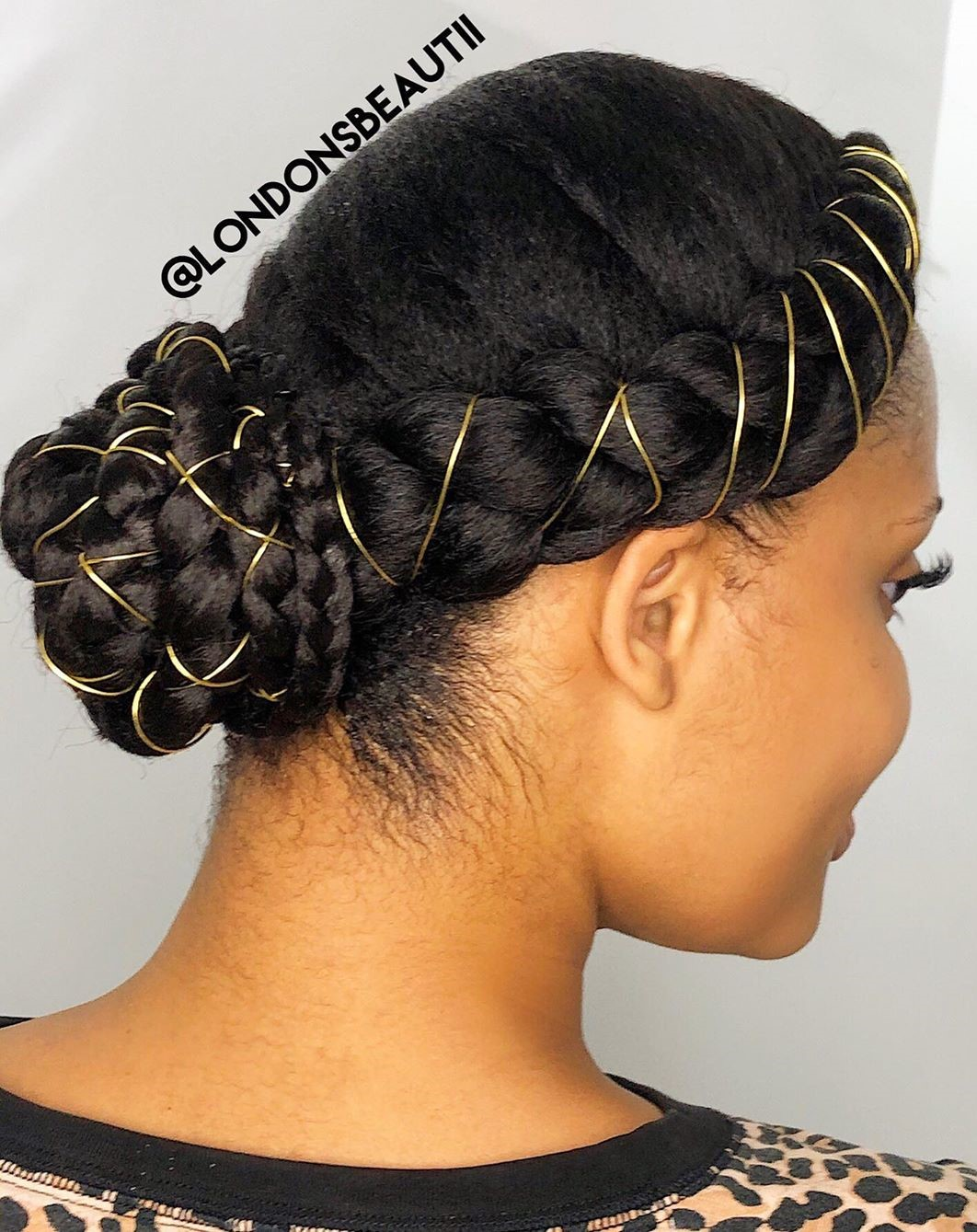 Braided Updo for Straight Black Hair