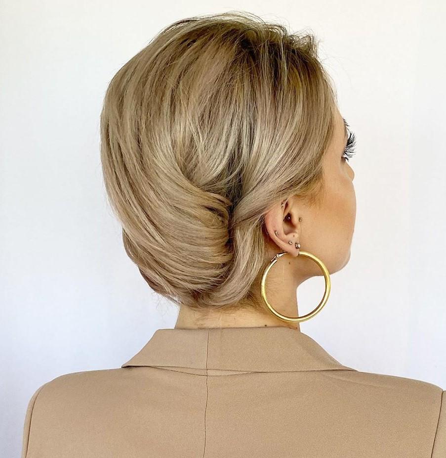 Banana Bun Updo for Shoulder Length Hair