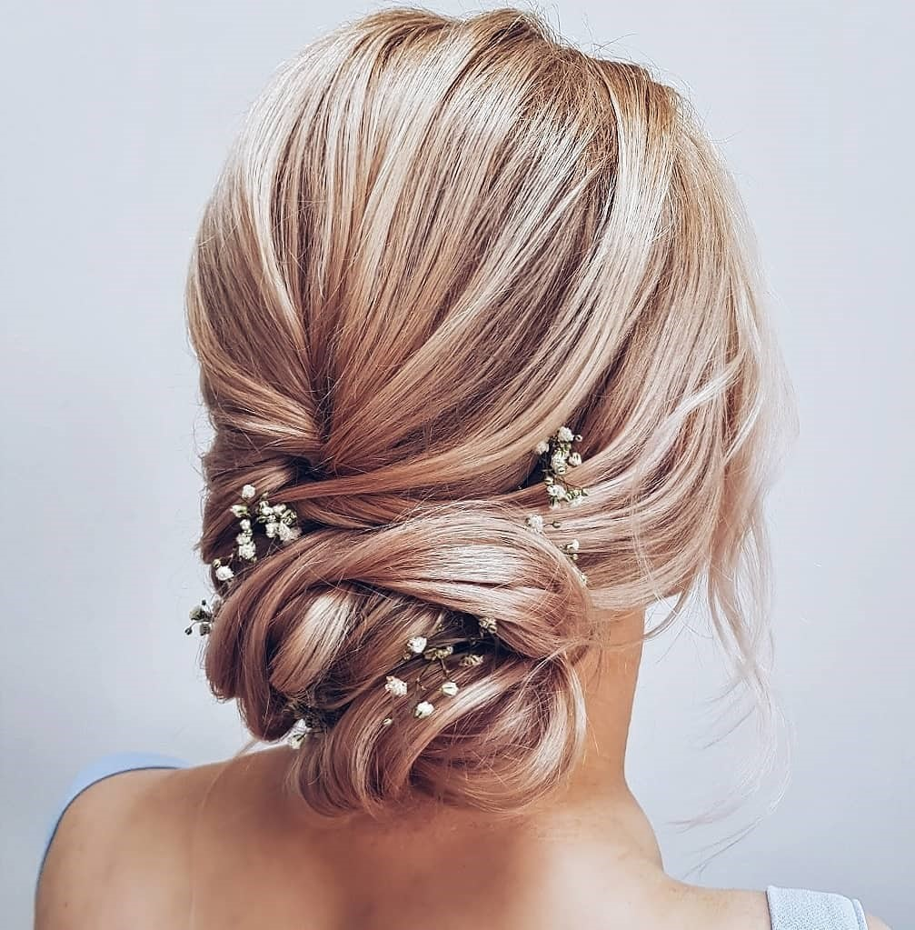 Braided Prom Updo with Flowers