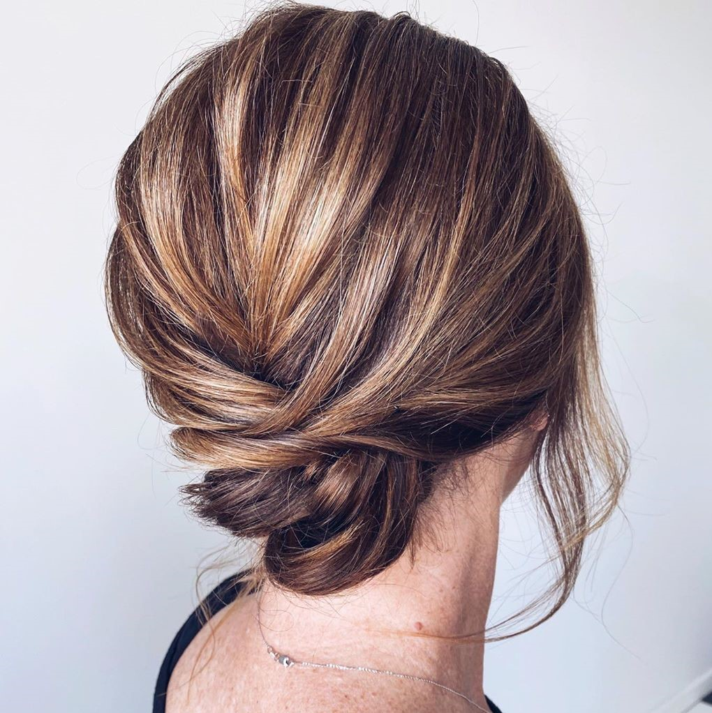 Loose Updo Hairstyle for Straight Hair
