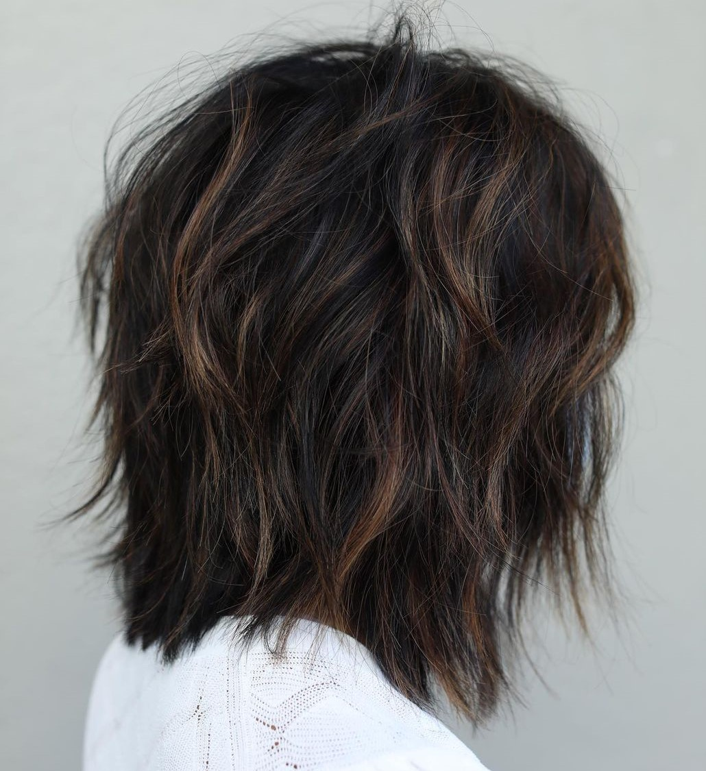 Hairstyle with Shaggy Layers for Thick Hair