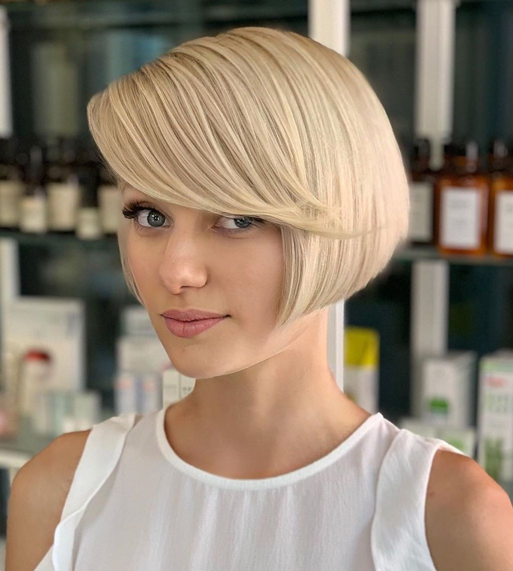 Short Bob with Bangs for Straight Hair