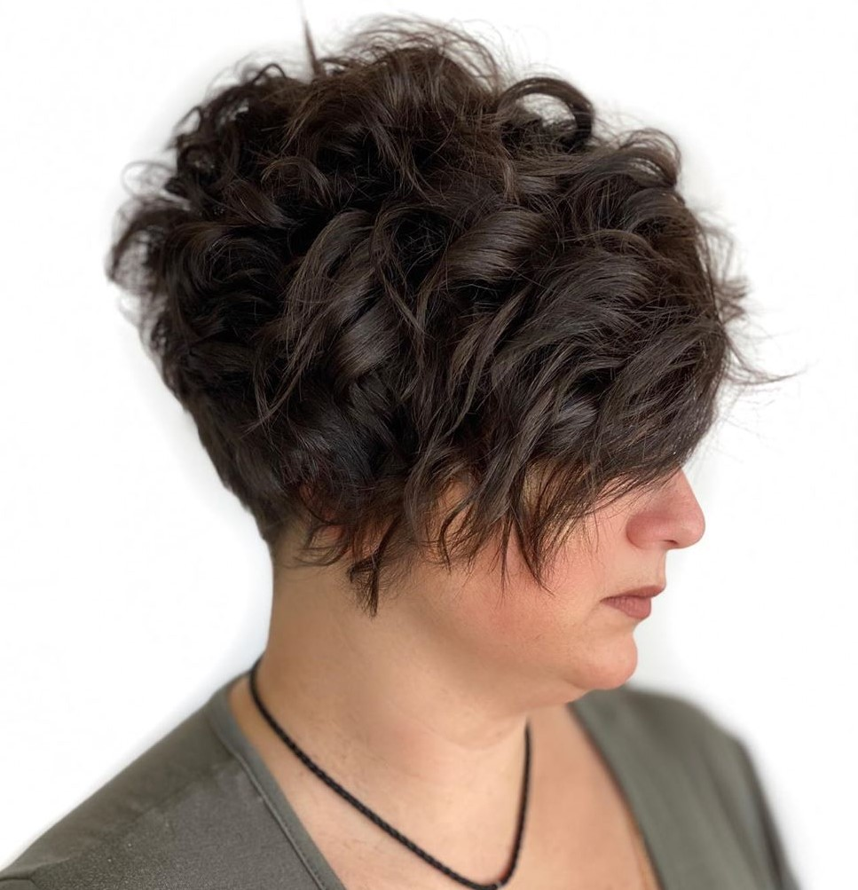 Chubby Face Double Chin Pixie Cut Short Hairstyles