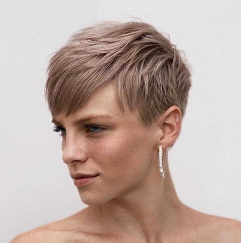 Pearl Ash Blonde Short Pixie
