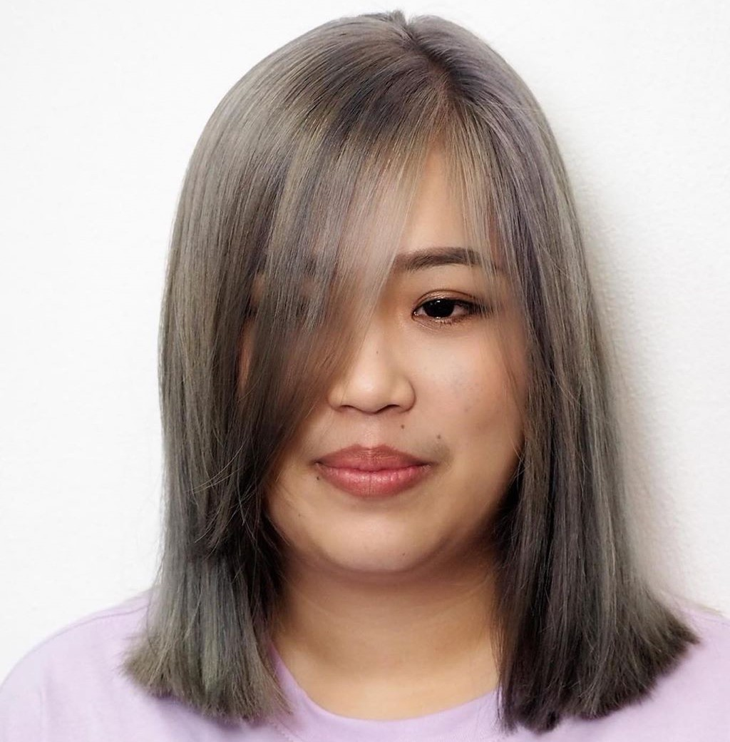 Medium Length Hairstyle for Double Chins
