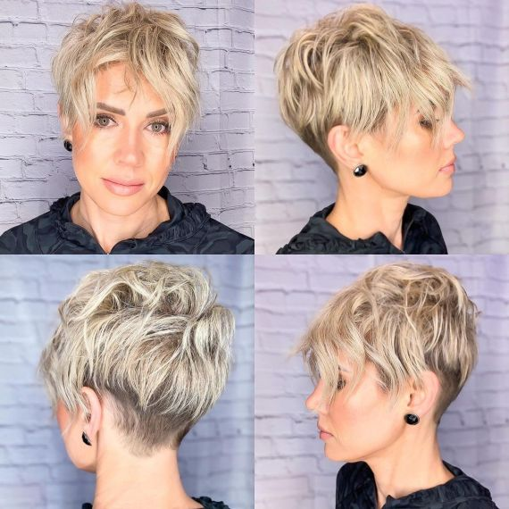 Pixie with Undercut and Long Bangs