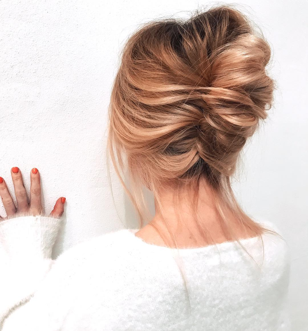 Updo Hairstyle for Double Chins