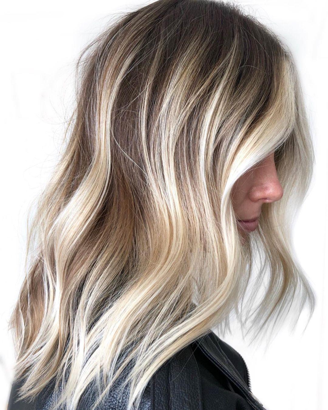 Blonde Balayage with Brown Lowlights