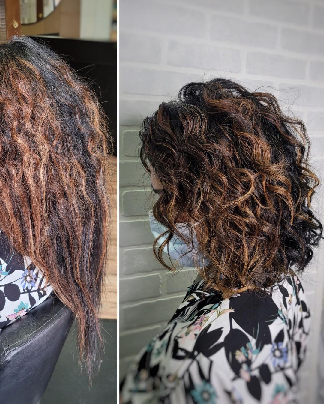 Heat Damaged Hair Before and After Photo