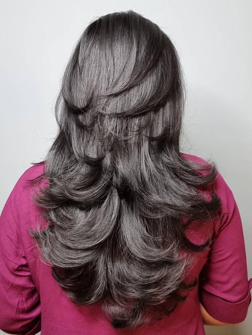 Long Choppy Cut for Thick Hair