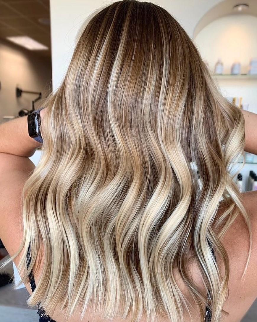 Caramel Blonde Balayage with Lowlights